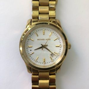 Michael Kors pearl face gold watch